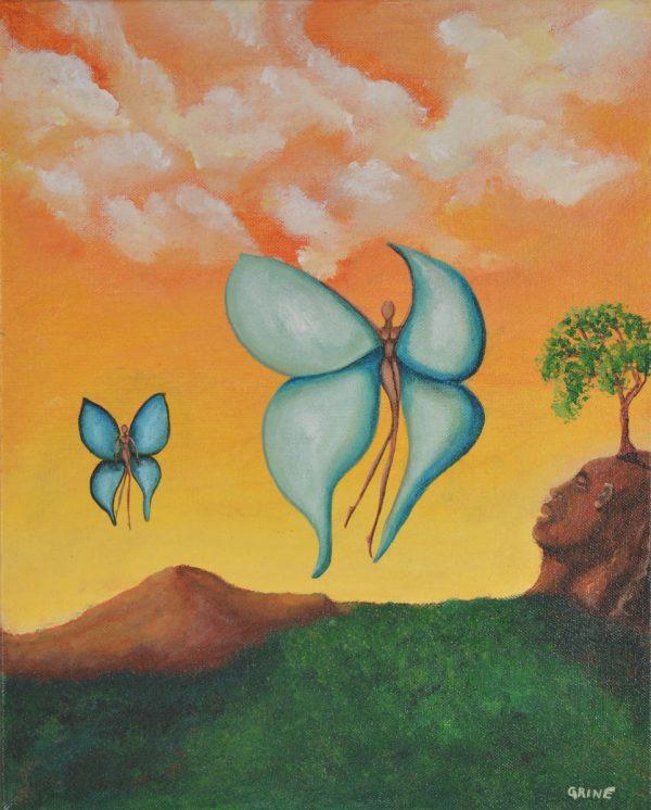 Les deux papillons, GRINE