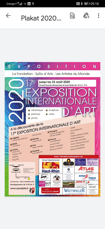 Syrod'art les artistes du monde 17 ème exposition internationale Lautenbach Zell en Alsace